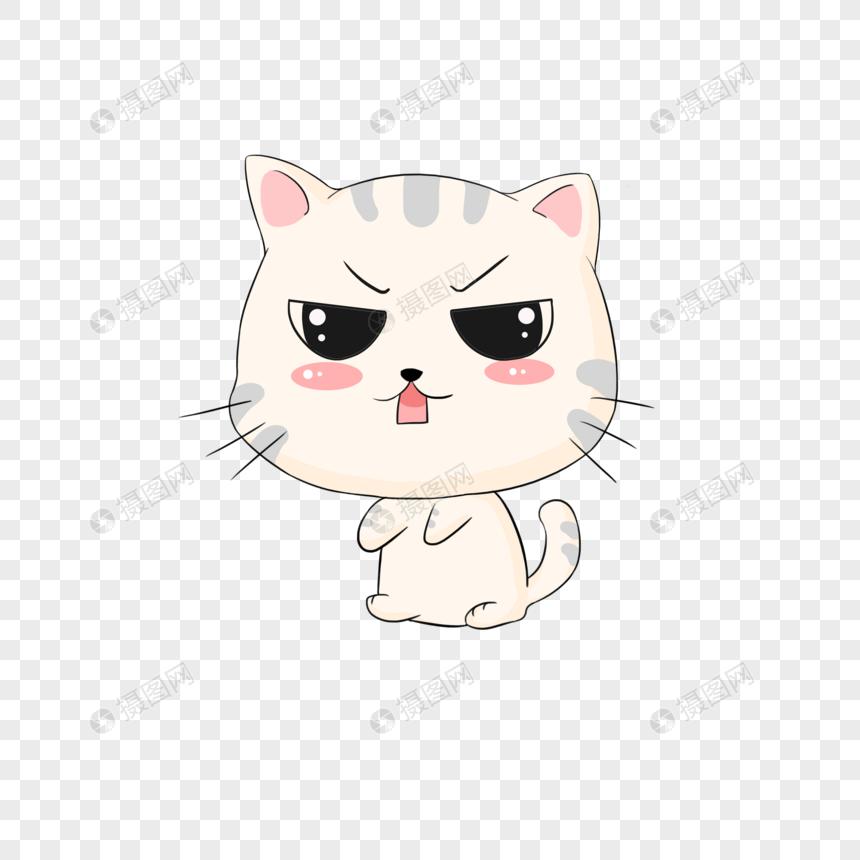 动漫表情包下载大全_卡通可爱猫咪表情包元素素材下载-正版素材401092138-摄图网