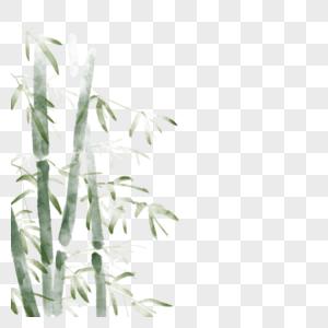 水墨国风竹子图片