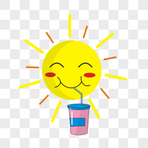 可爱卡通太阳图片