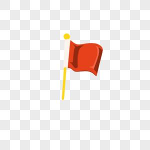 红色彩旗导游旗图片