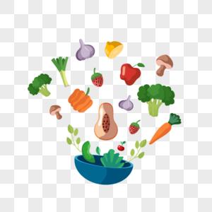 手绘彩色蔬菜图片
