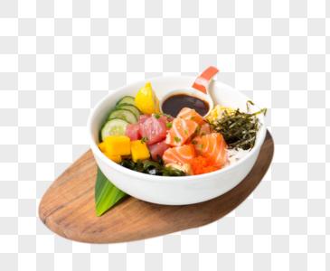 金枪鱼三文鱼轻食图片