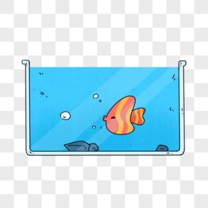 手绘鱼缸图片