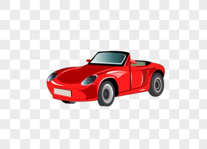 交通工具红色小跑车矢量图图片