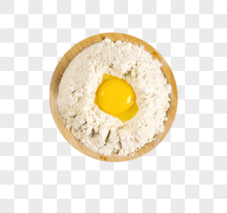 鸡蛋面粉图片