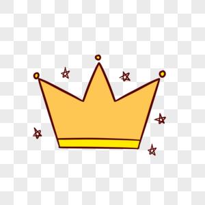 手绘皇冠元素设计图片