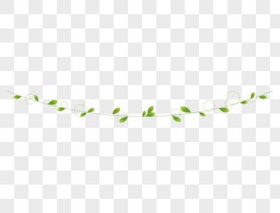 绿叶装饰藤条图片