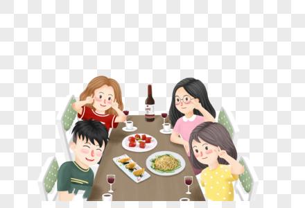 聚会的朋友图片