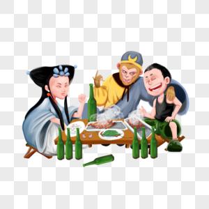 吃饭的神仙图片