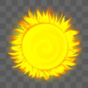 炎热火球图片