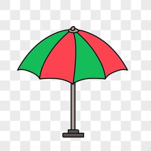卡通大型雨伞图片