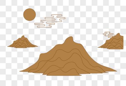 中国古典山云纹素材图片