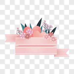 母亲节爱心花卉边框图片