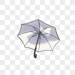 白色雨伞图片