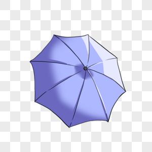 蓝色雨伞图片