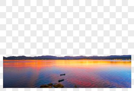 洱海晨曦图片