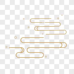 金色几何线条云纹图片