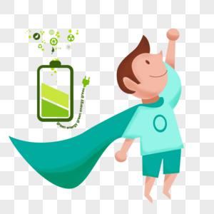 绿色能量超人图片