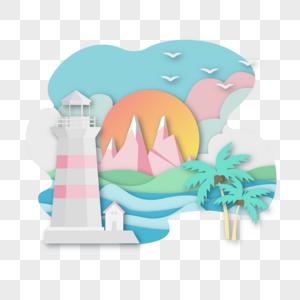 清新风格海边风景图片