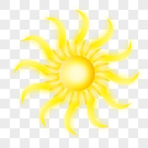 自然界光芒四射的太阳矢量图图片