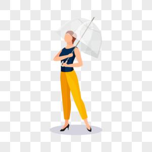 撑伞的女人图片