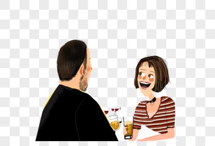 约会的情侣图片