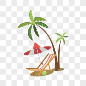 沙滩椅矢量图片