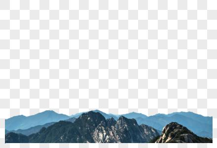 黄山远眺山峰图片