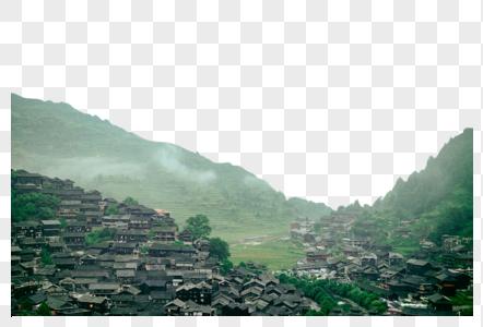 高山村落图片