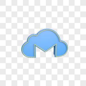 立体云图标插图图片