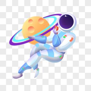 宇航员与星球图片