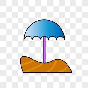 手绘太阳伞图片