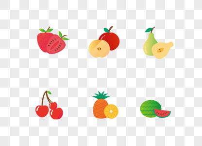 AI矢量图多种可爱卡通水果元素图片