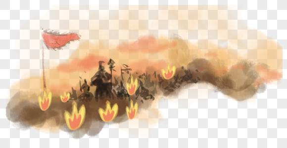 战争水墨素材图片