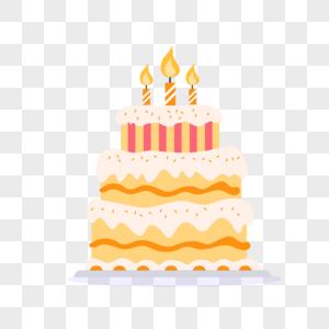 生日蛋糕扁平插画图片