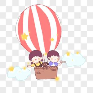 儿童节儿童冒险插画图片