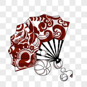 中国风扇子图片