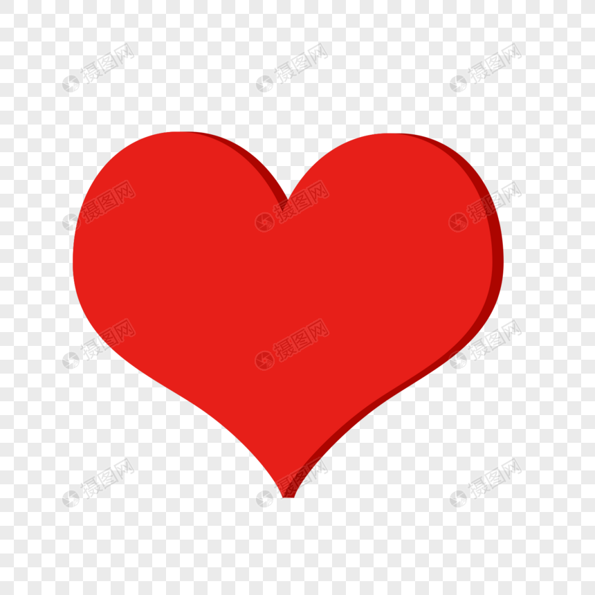 上传照片图标_立体红心元素素材下载-正版素材401127401-摄图网