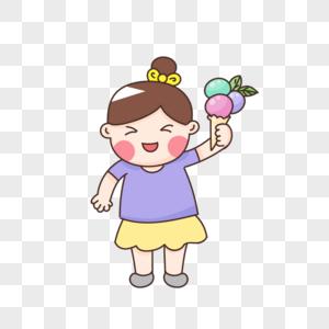 冰激凌女孩图片