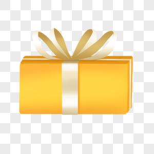 礼物优惠庆典金币礼盒金色黄色红带图片
