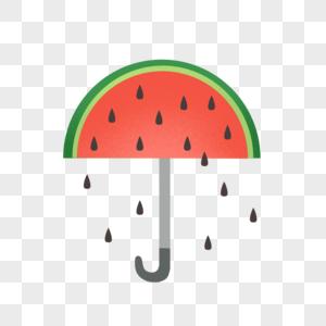 夏天西瓜外形的伞图片