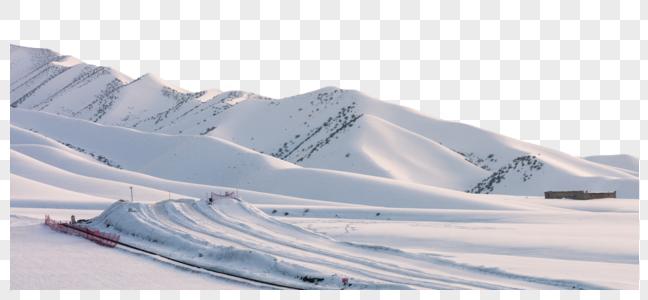 新疆冬季滑雪场模式旅游经济发展特色小镇图片