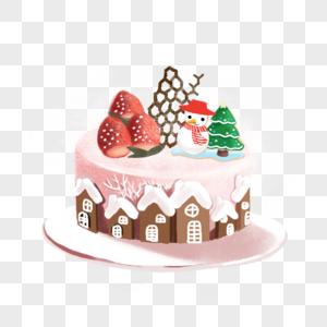手绘生日蛋糕图片