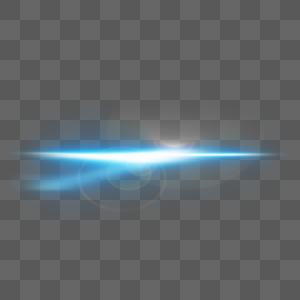 蓝色分叉光束光效图片