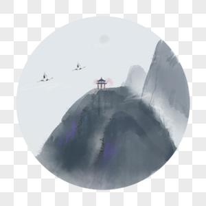 中国风水墨意境山水图片