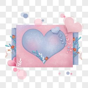 母亲节爱心文字框图片