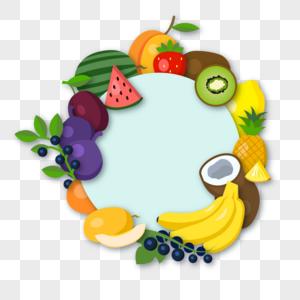 夏日水果边框图片