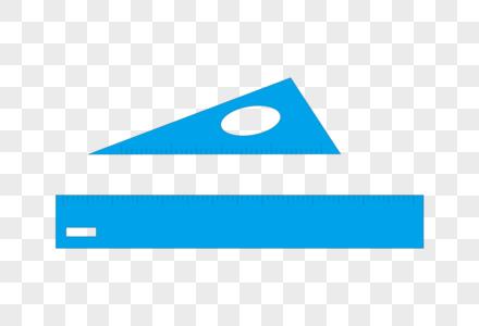 学习用品直尺三角尺矢量手绘图图片