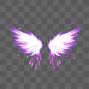 荧光翅膀图片