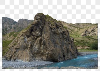 新疆自然高山湖泊图片